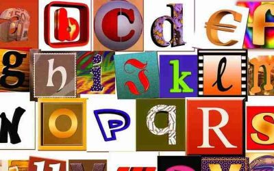 French alphabet from A to Z