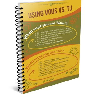 using tu and vous french infographic