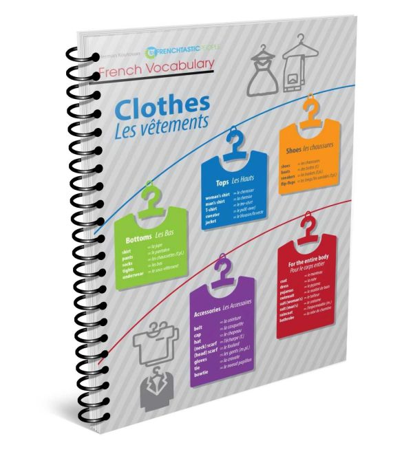 clothes and accessories french infographic