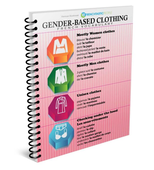 gender-based clothing french infographic